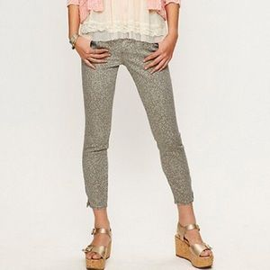 Free People Lace Print Crop Pant